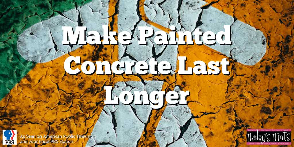 cracked, painted concrete