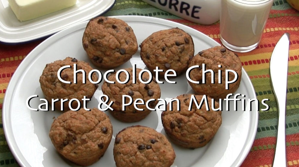 Awesome Chocolate Chip Carrot and Banana Muffins with Pecans 1