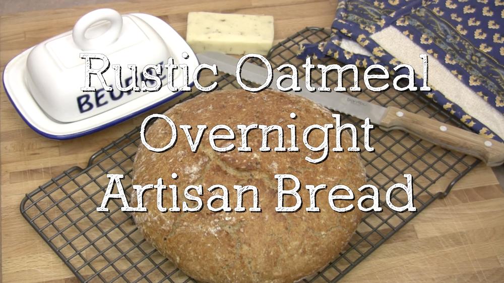 "Heavenly Rustic Oatmeal ""Overnight"" Artisan Bread 1"