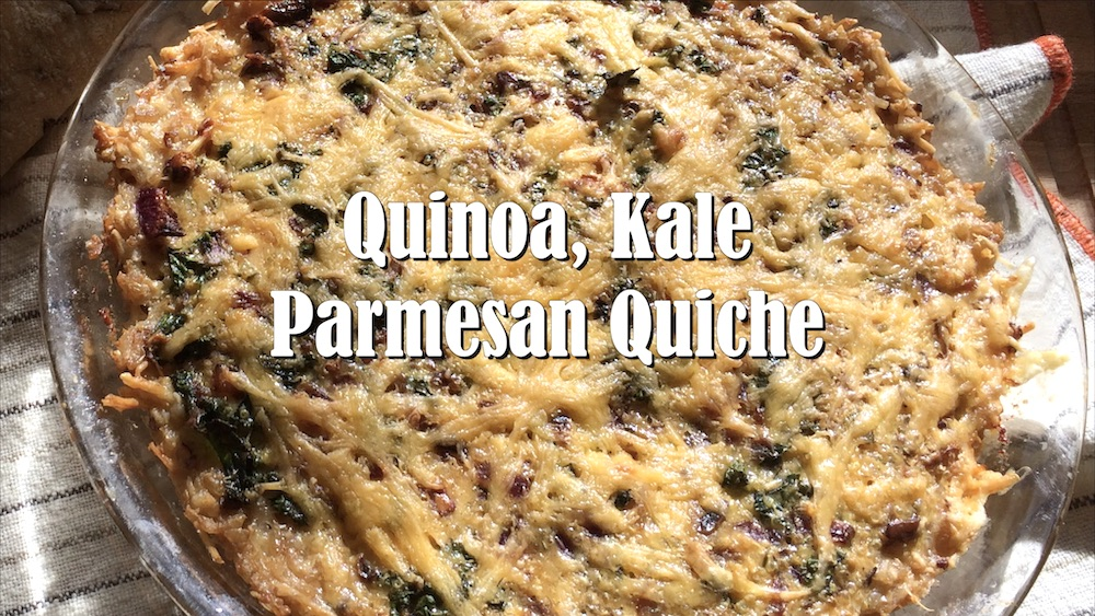 Savory Quinoa, Kale and Parmesan Quiche with Brown Rice Crust 4