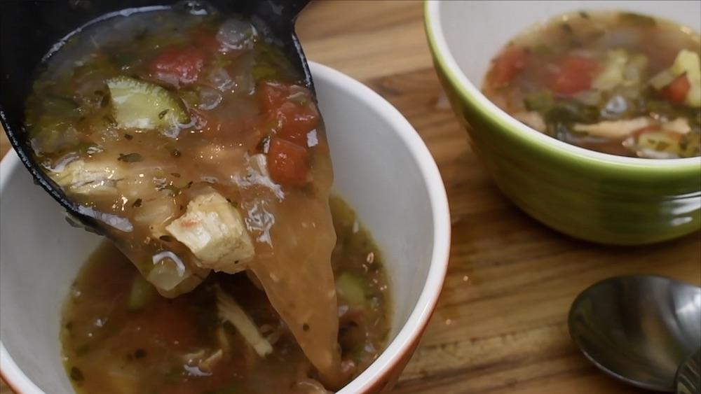 chicken soup clean